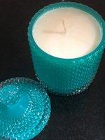 aqua tear drop candle