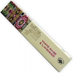 white sage and lavender incense