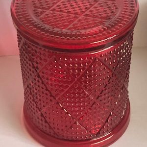 Large Red Diamond Candle