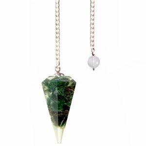 Heart Chakra Orgone Pendulum - Green Aventurine